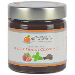 Confettura Extra di Fragola menta e cioccolata 220g