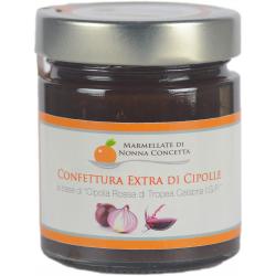 """Confettura Extra di Cipolle a base di """"Cipolla Rossa di Tropea Calabria I.G.P."""