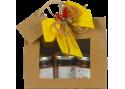 Confezione regalo sacchetto in carta con finestra con 3 confetture nonnaconcetta.it