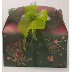 Confezione regalo bauletto in carta naturale con 3 confetture nonnaconcetta.it