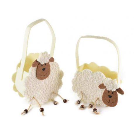 Confezione regalo con Borsetta panno a forma di pecorella  e 1 confettura di Nonnaconcetta