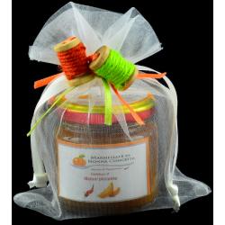 Confezione regalo con sacchetto in tulle e decori con 1 confettura di Nonnaconcetta