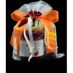 Confezione regalo con sacchetto juta e 1 confettura di Nonnaconcetta