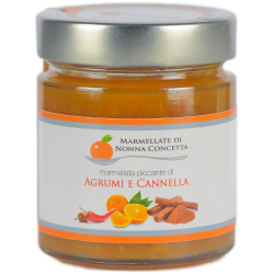 Bomboniera confezionata con 1 marmellata di agrumi e cannella di nonnaconcetta.it