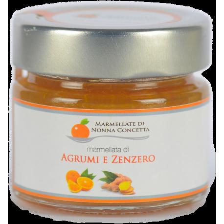 Bomboniera con Marmellata Di Agrumi e Zenzero scatola  cartone avorio fiocco arancione