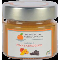Bomboniera confezionata con 1 Delizia di Pesca e cioccolato  -nonnaconcetta.it