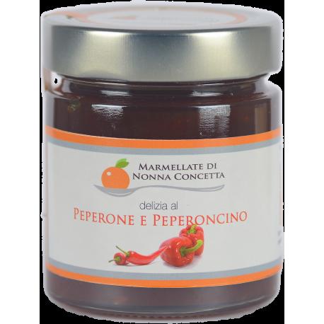 Bomboniera confezionata con  1 delizia di peperone e peperoncino  nonnaconcetta.it