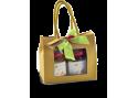 Confezione regalo sacchetto in carta con finestra con 2 confetture di Nonnaconcetta