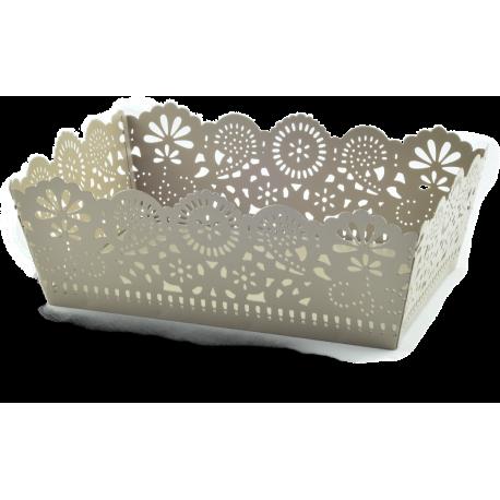 Confezione regalo con vassoio in metallo tortora e 3 confetture di Nonnaconcetta