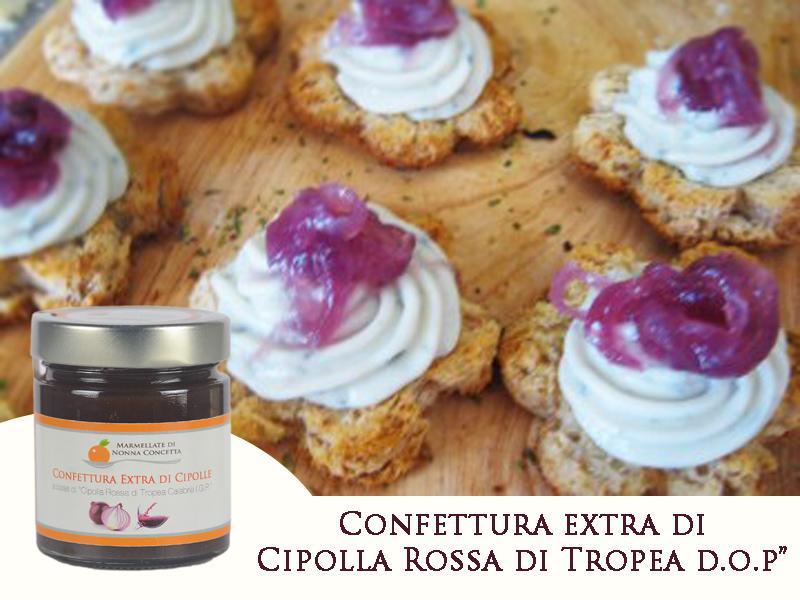 gorgonzola e confettura di cipolla tropea