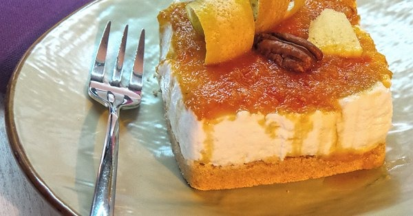 Cheesecake light agli agrumi e zenzero